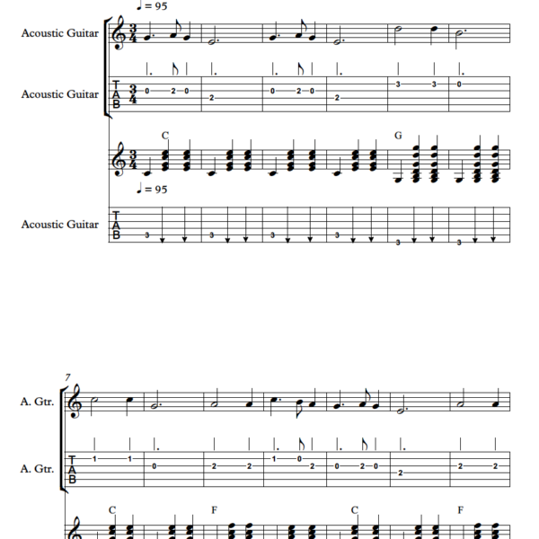 guitar ensemble sheet music