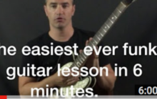 Funky Guitar Lesson long train running